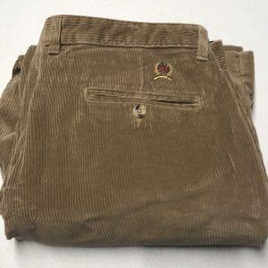 TOMMY HILFIGER Mens 36 x 30 Brown Corduroy Pants